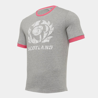 Macron Scotland T Shirt Mens