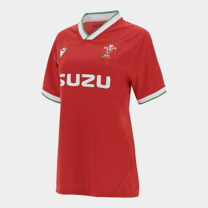 Macron Wales Home Shirt 2020 2021 Ladies