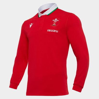 Macron Wales Home Classic Long Sleeve Shirt 2020 2021