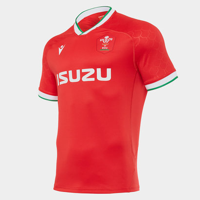 Macron Wales Home Rugby Shirt 2020 2021