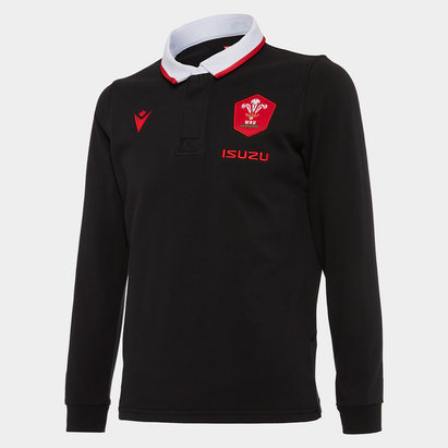 Macron Wales Long Sleeve Classic Alternate Shirt 2020 2021 Junior