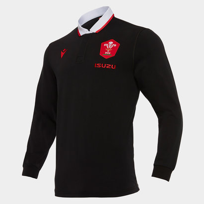 Macron Wales Alternate Classic Long Sleeve Shirt 2020 2021