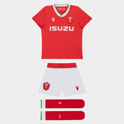 Macron Wales Rugby Home Mini Kit 2020 2021