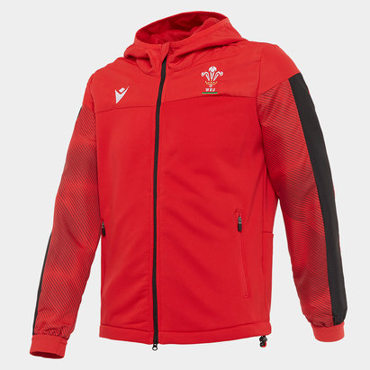 Macron Wales Full Zip Hoodie Junior