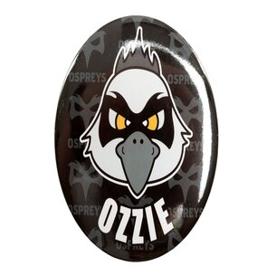 Ospreys Rugby Ozzie Giant Button Badge
