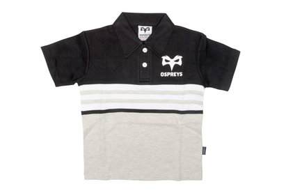 Ospreys Kids Supporters Rugby Polo Shirt