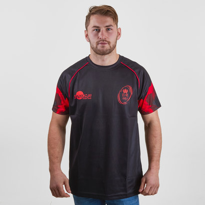 Samurai Army Rugby Union Lest We Forget Poppy Remembrance Day Rugby T-Shirt