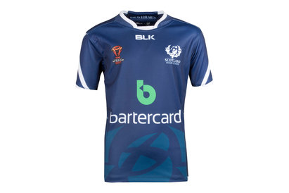 BLK Scotland Rugby League RLWC 2017 Kids Home S/S Replica Rugby Shirt