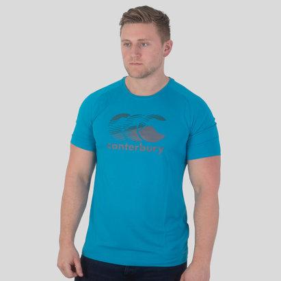 Canterbury Vapodri Poly Large Logo T-Shirt