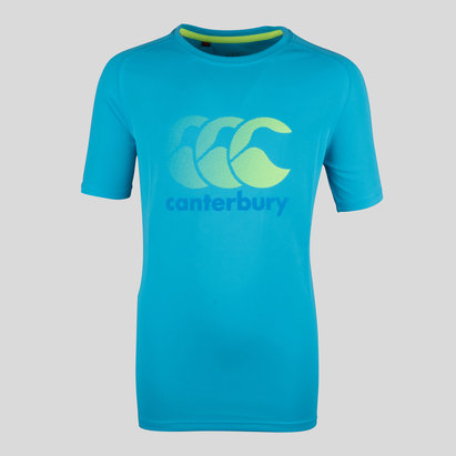 Canterbury Vapodri Kids Poly Logo T-Shirt
