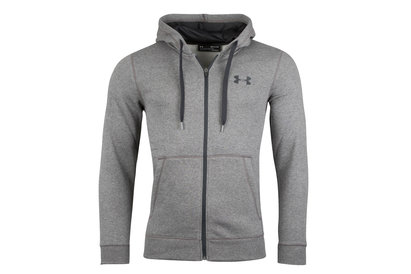 Under Armour Rival Fitted Full Zip Hooded Fleece Sweat