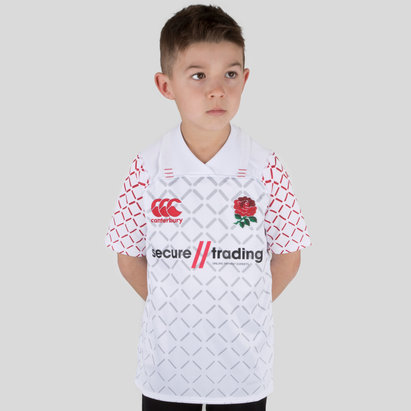 Canterbury England 7s 2018/19 Kids Home Pro S/S Rugby Shirt