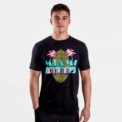 Rugby Division Miami Graphic Rugby T-Shirt