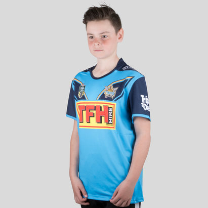Classic Sportswear Gold Coast Titans 2018 NRL Kids Home S/S Rugby Shirt