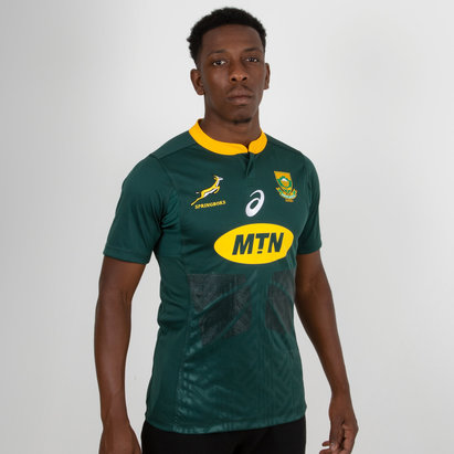 Asics South Africa Springboks 2018 19 Home S S Test Rugby Shirt 45956eaf0c5