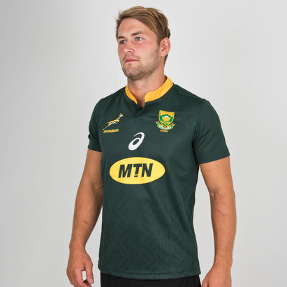 Asics South Africa Springboks 2018/19 Home Supporters Rugby Shirt
