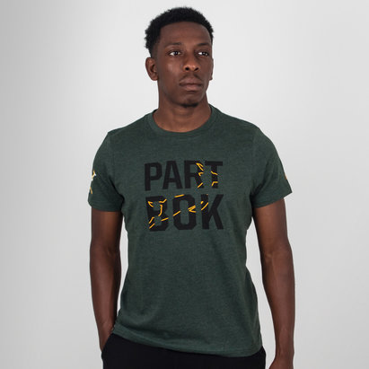 Asics South Africa Springboks 2018/19 Graphic Rugby T-Shirt