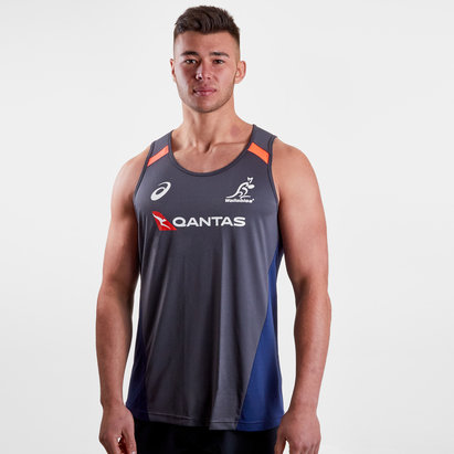 Asics Australia Wallabies 2018/19 Players Rugby Training Singlet