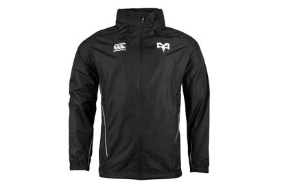 Canterbury Ospreys 2017/19 Players Full Zip Rain Rugby Jacket