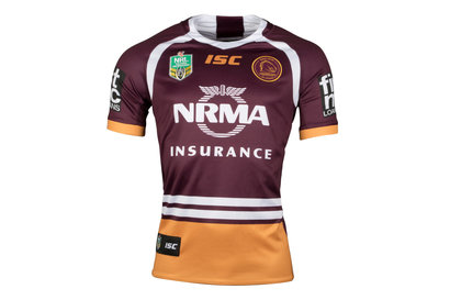 ISC Brisbane Broncos NRL 2018 Home S/S Rugby Shirt