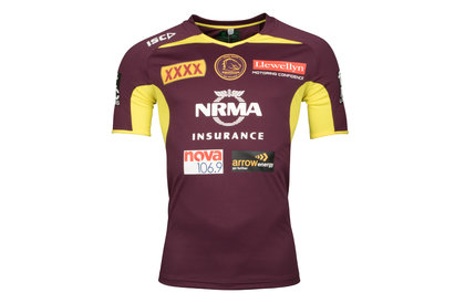ISC Brisbane Broncos NRL 2018 Players Rugby Training T-Shirt