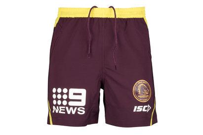 ISC Brisbane Broncos NRL 2018 Players Rugby Training Shorts