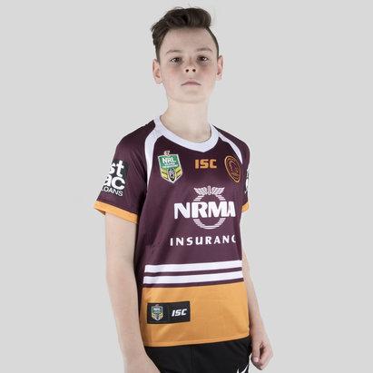 ISC Brisbane Broncos NRL 2018 Kids Home S/S Rugby Shirt