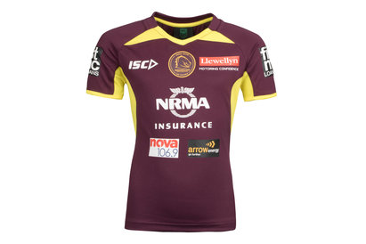 ISC Brisbane Broncos NRL 2018 Kids Rugby Training T-Shirt