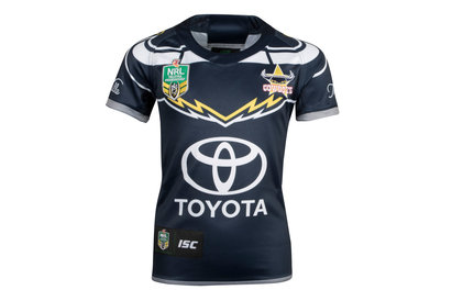 ISC North Queensland Cowboys NRL 2018 Kids Home S/S Rugby Shirt