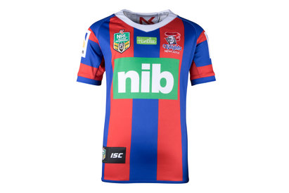 ISC Newcastle Knights NRL 2018 Kids Home S/S Rugby Shirt