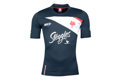 ISC Sydney Roosters NRL 2018 Players Rugby Training T-Shirt