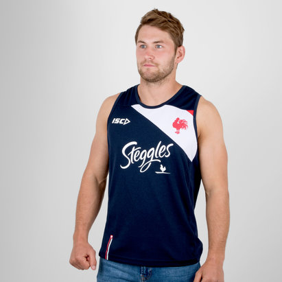 ISC Sydney Roosters NRL 2018 Players Rugby Training Singlet