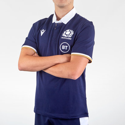 Macron Scotland Home Short Sleeve Classic Shirt 2020 2021