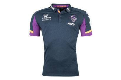 ISC Melbourne Storm NRL 2018 Players Rugby Polo Shirt