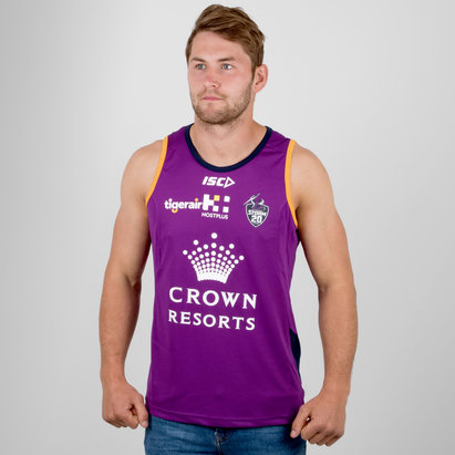 ISC Melbourne Storm NRL 2018 Players Rugby Training Singlet