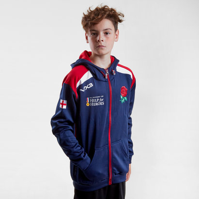 VX-3 Help for Heroes England 2018/19 Kids Hooded Rugby Sweat