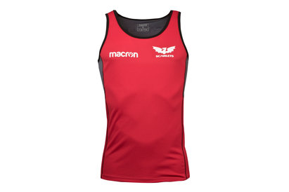 Macron Scarlets 2017/18 Players Rugby Training Singlet