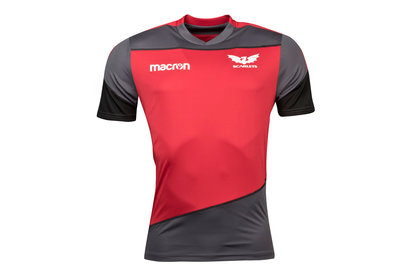 Macron Scarlets 2017/18 Players Rugby Training T-Shirt