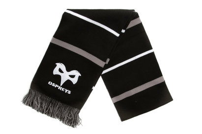 Ospreys Embroidered Multi Stripe Rugby Scarf