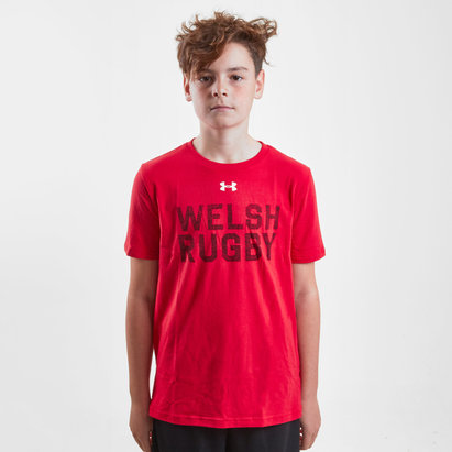 Under Armour Wales WRU 2017/19 Kids Graphic Rugby T-Shirt