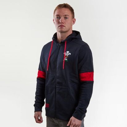 Under Armour Wales WRU 2017/18 Players Full Zip Rugby Jacket
