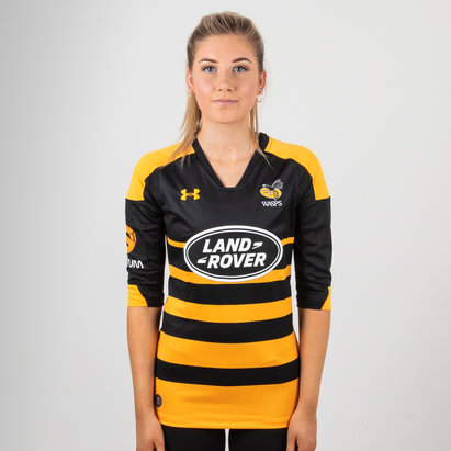 Under Armour Wasps 2018/19 Home Ladies S/S Replica Rugby Shirt