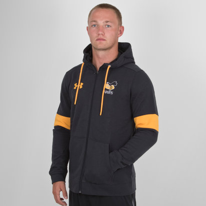 Under Armour Wasps 2018/19 Players Rival Full Zip Hooded Rugby Sweat