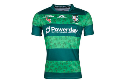 X Blades London Irish St Patricks Day 2018 S/S Replica Rugby Shirt