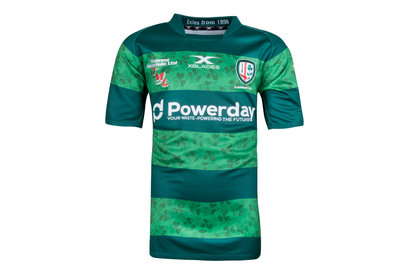 X Blades London Irish St Patricks Day 2018 Kids S/S Replica Rugby Shirt