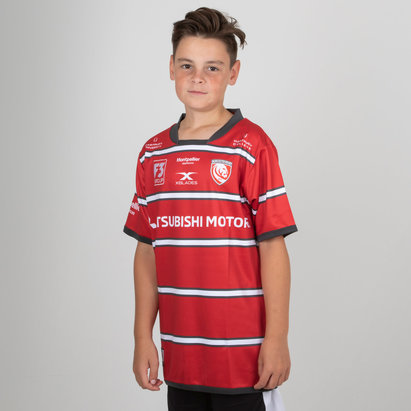 X Blades Gloucester 2018/19 Home Kids S/S Replica Rugby Shirt