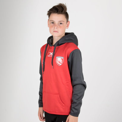 X Blades Gloucester 2018/19 Kids Overhead Hooded Rugby Sweat