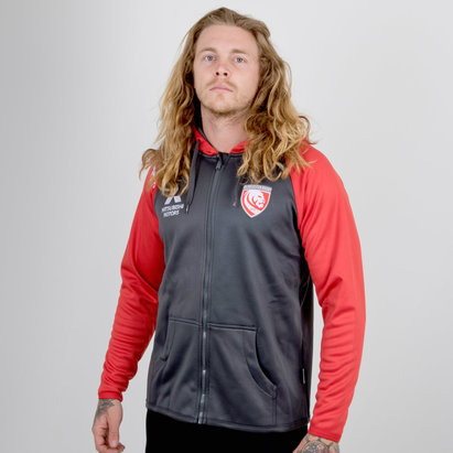 X Blades Gloucester 2018/19 Full Zip Hooded Rugby Sweat