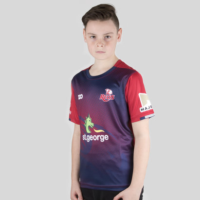 Zoo Sport Queensland Reds 2018 Kids Super Rugby Warm Up T-Shirt