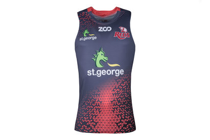 Zoo Sport Queensland Reds 2018 Players Super Rugby Training Singlet